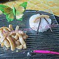 Anneaux d'encornets, sauce aux agrumes et à la vanille