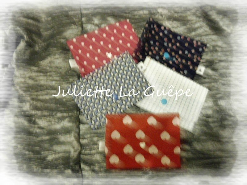 pochettes origami étoile de coton 1
