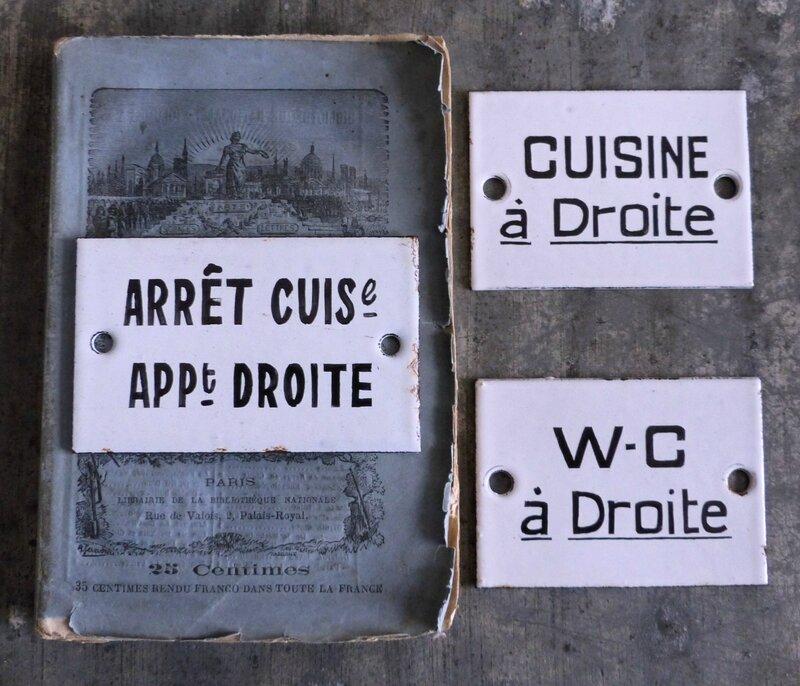 2014-02 Plaques émaillées cuisine et W