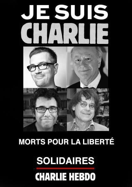 JE SUIS CHARLIE, TU ES CHARLIE, NOUS SOMMES CHARLIE.