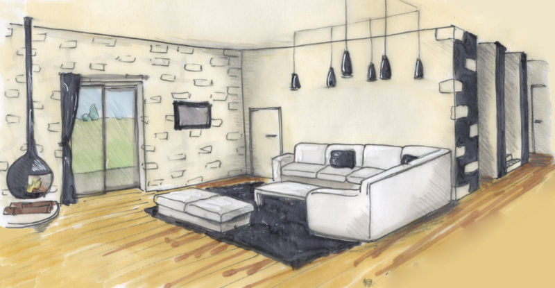 rough2 photo de croquis projet de g tes en vend e emilie sainton architecte d 39 int rieur. Black Bedroom Furniture Sets. Home Design Ideas