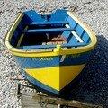 Barques sur galets d'Etretat
