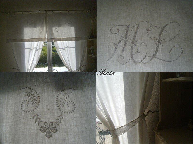 La douceur travers les rideaux perle rose - Faire des rideaux avec draps anciens ...