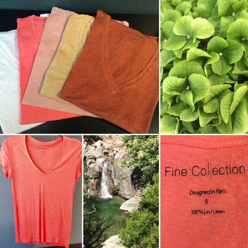T shirts lin été 2016 FINE COLLECTION Boutique Avant Après 29 rue Foch 34000 Montpellier
