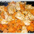 BLANC DE POULET SAUCE MANDARINE ET PATATES DOUCES