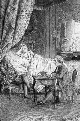 02_ Tous les matins je me rendais chez elle sur les dix heures; M_ de Luxembourg y venait, on fermait la porte_ Je lisais à côté de son lit