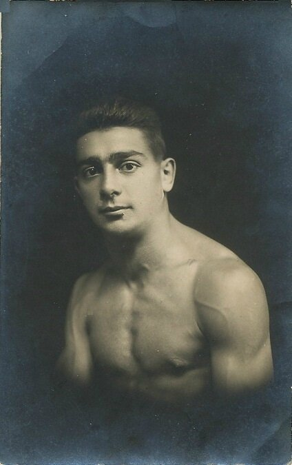 CPhoto Belfort Boxeur Paul Fritsch Autographe Nevers 1921 Champion Olympique Recto