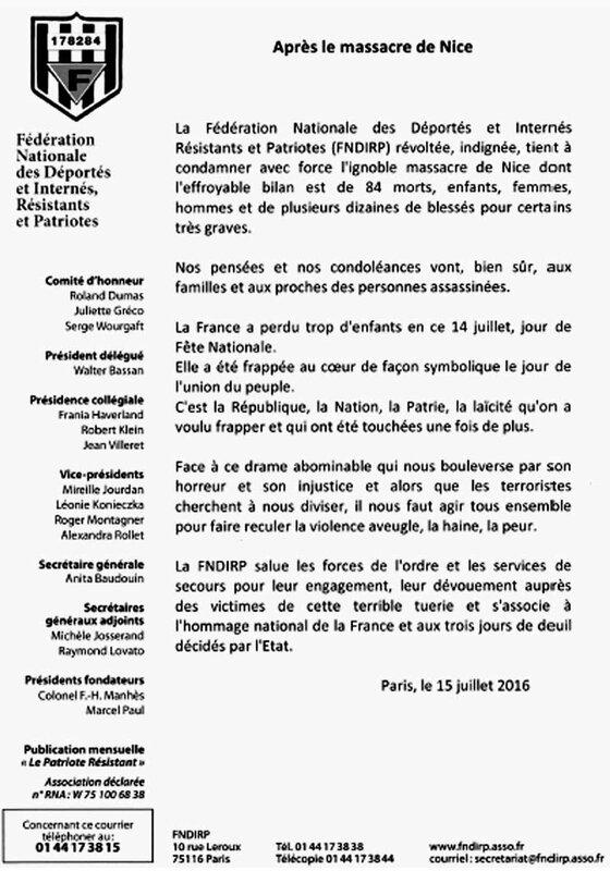 Communiqué-FNDIRP juillet 2016