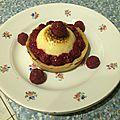 Tartelette chiboust framboise