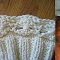 Point fleurs-dans-le-rang au tricot et ratage express
