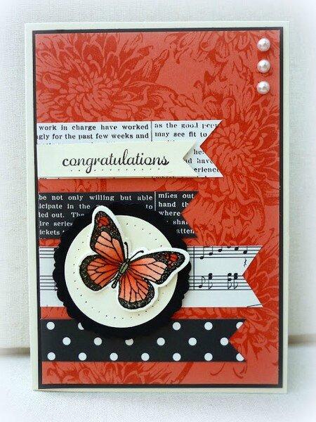 creascrap - carte papillons