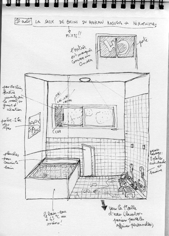 Bordel chambre dessin for Salle de bain japonaise traditionnelle
