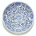 Plat en porcelaine bleu blanc Marque et époque Kangxi