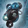 Bague fil alu turquoise noir (N)