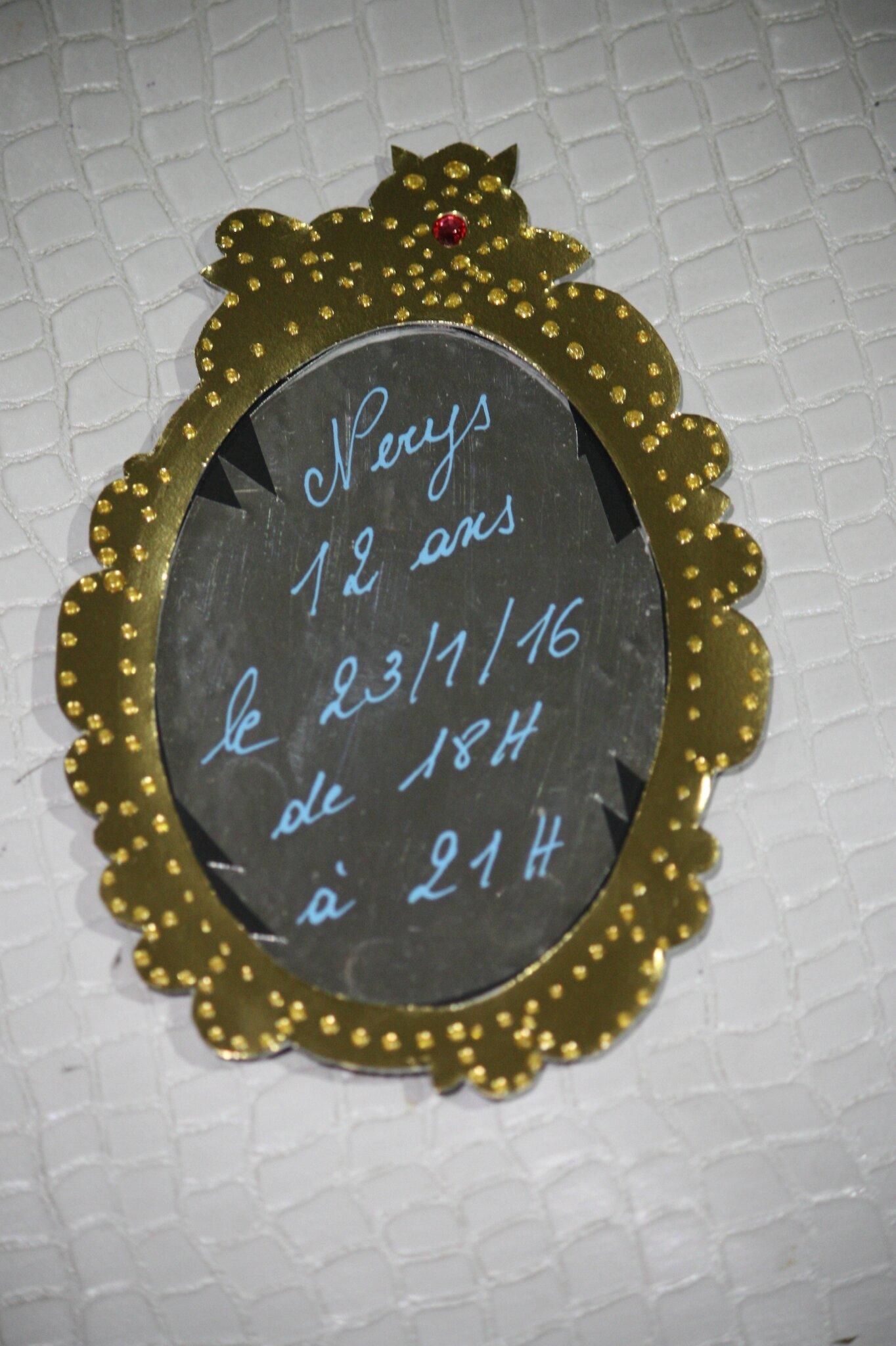 Anniversaire th me descendants 1 les invitations for O miroir magique montpellier