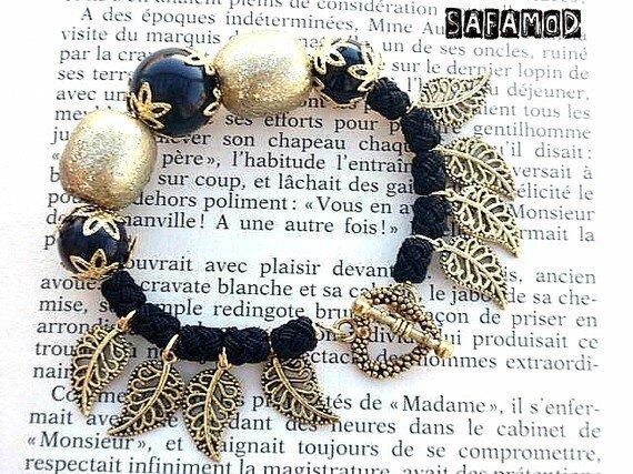 bracelet-defi-decembre-noir-et-or-bracelet