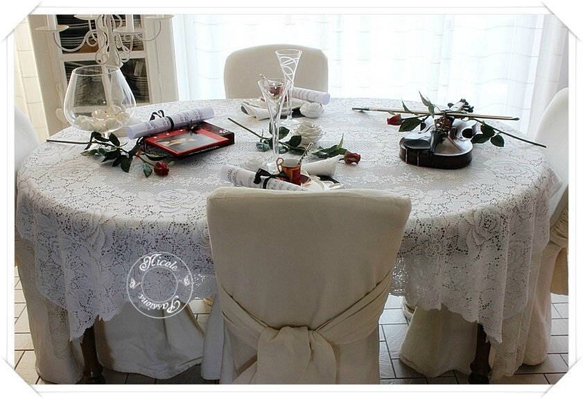 "Ma table ""Un violon sur la table""......."
