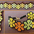 Bracelet petites fleurs printanières