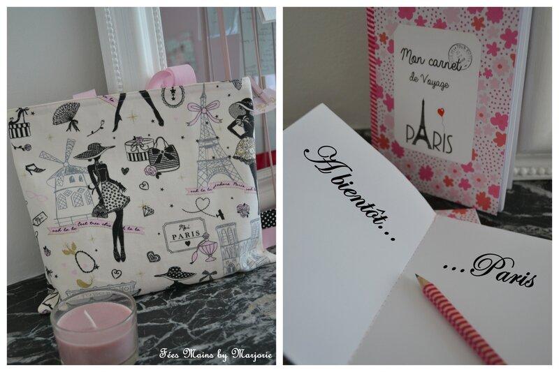 Tote bag et carnet de voyage Paris