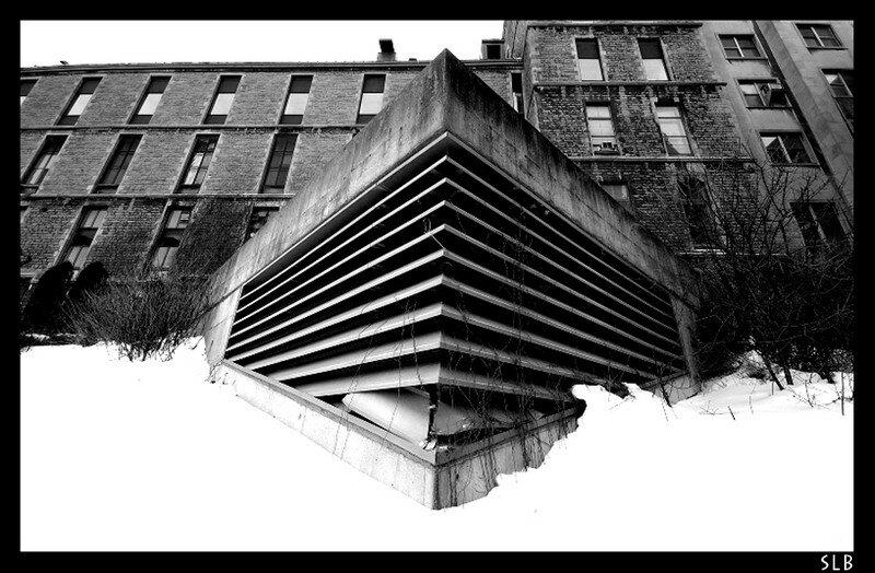 Architecture hopital mc gill en noir et blanc slbphotos for Architecture noir et blanc