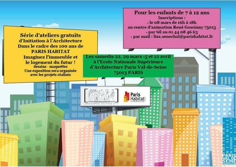 Atelier d 39 architecture pour les enfants adl 67 rue vergniaud - Architecture pour enfants ...