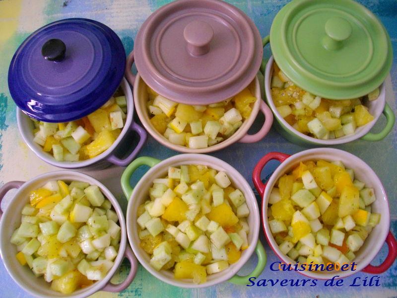 ratatouille jaune en cocotte - cuisine et saveurs de lili