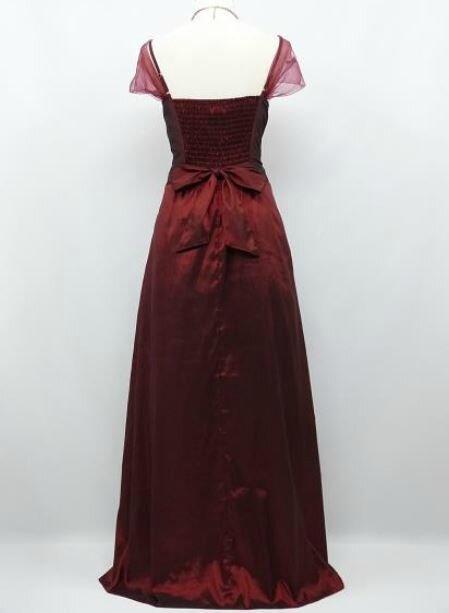 """robe de soirée """"Gloria"""" bordeaux taille 36/ 38 neuve"""