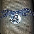 Médaille de berceau, liberty eloïse bleu, 388 vendu merci !