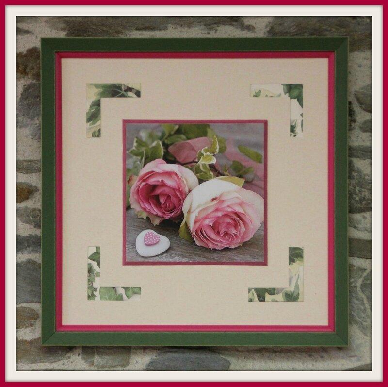 Cadre roses rose
