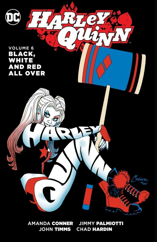 new 52 harley quinn vol 6 black white and red all over TP