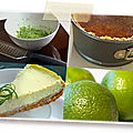 Cheescake au cream cheese et au citron vert
