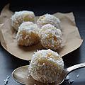 Truffes orange coco amande