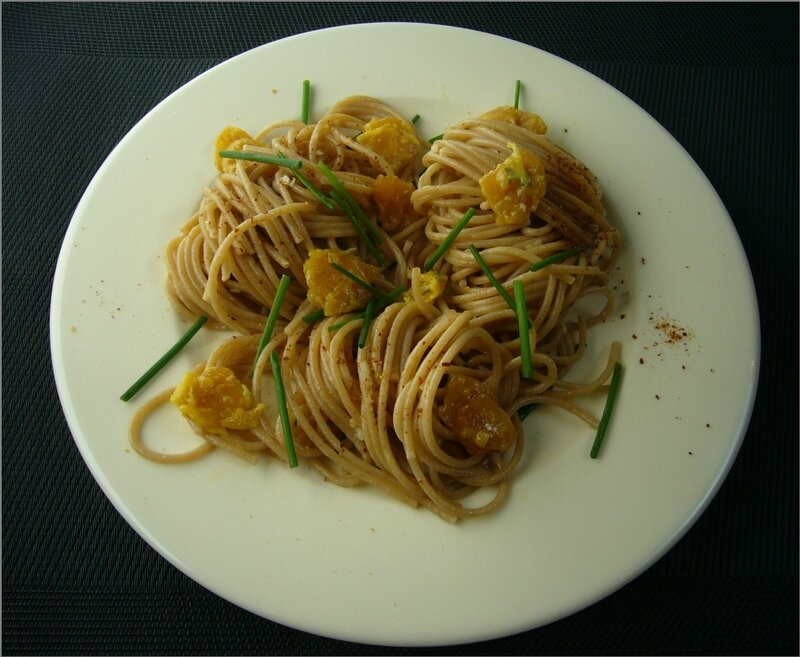 Spaghettis à la poutargue
