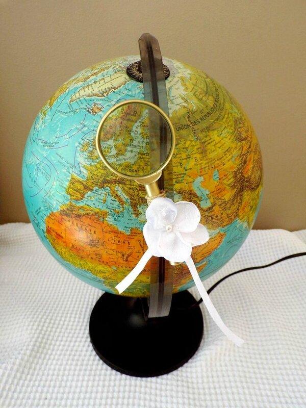 Location globe terrestre mariage cérémonie voyage