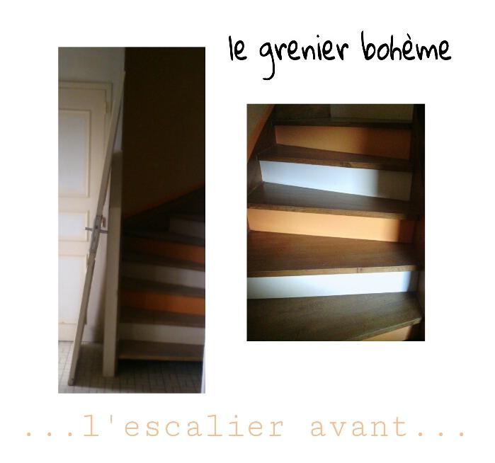 nouveau look escalier.....
