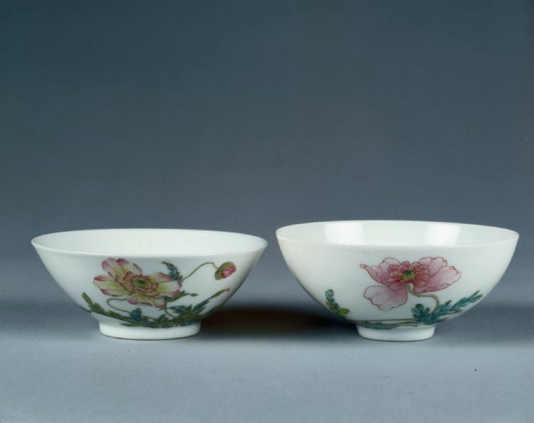 Famille rose bowl, Six-character Yongzheng mark in a double circle in underglaze blue and of the period (1723-1735), Sir Percival David Foundation of Chinese Art, PDF 821 © 2017 Trustees of the British Museum