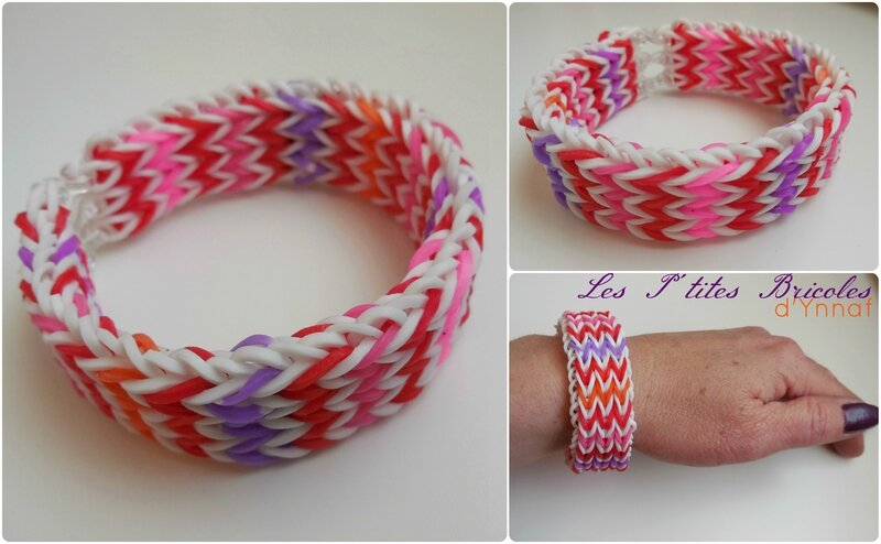rainbow loom bracelet triple gourmand
