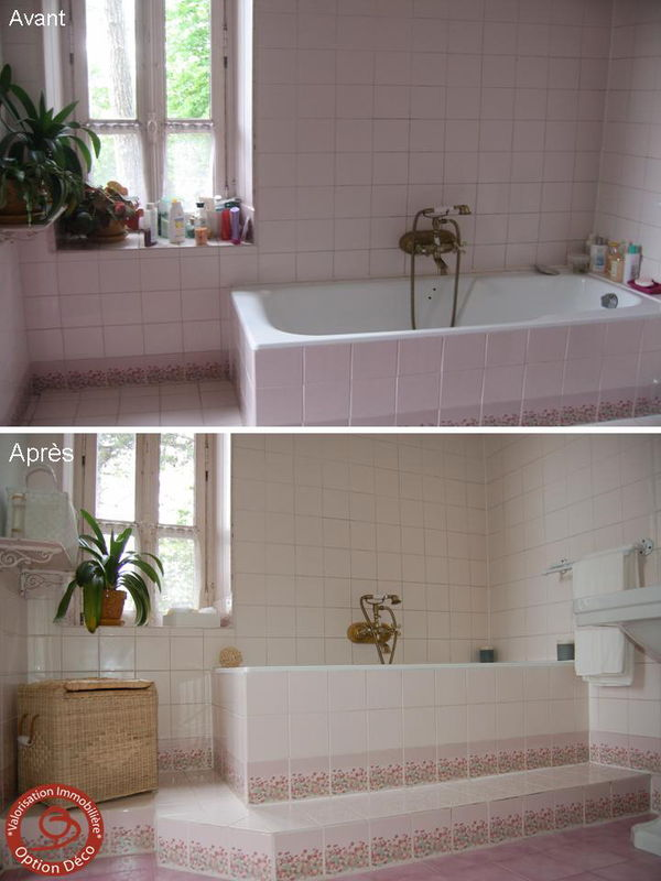 Salle de bain avant apr s photo de home staging avant Salle de bain home staging