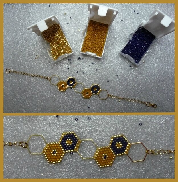 Bracelet hexagone3