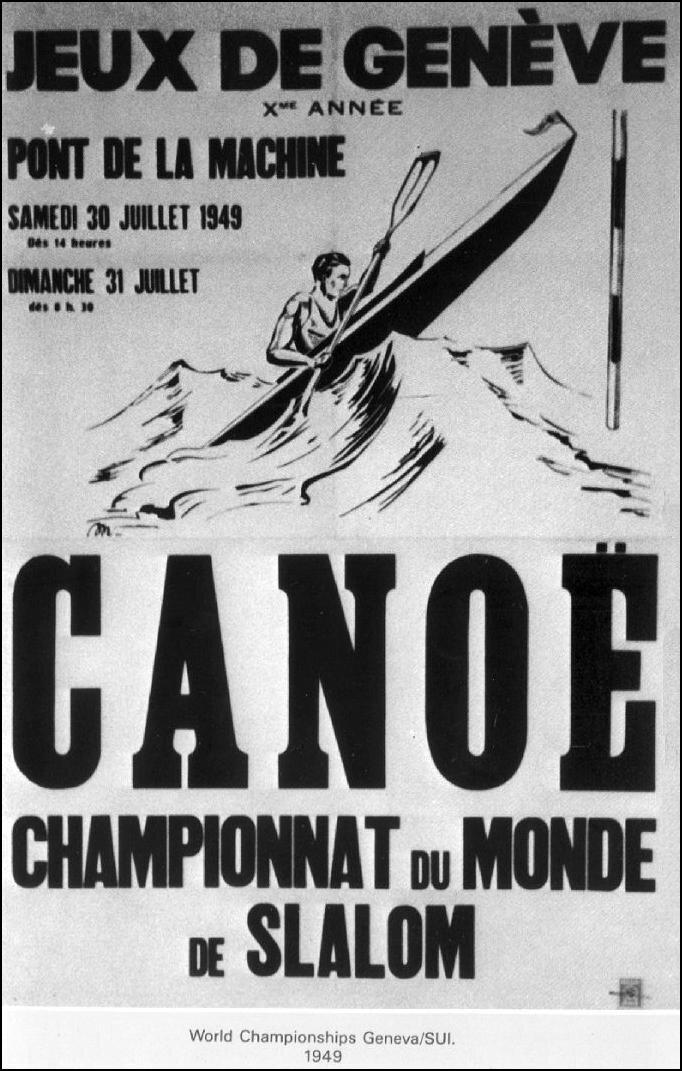 Affiche Genève SLALOM 1949