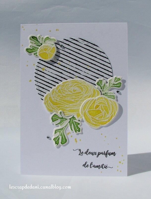 dani carte2 fleurs aquarelle jaune