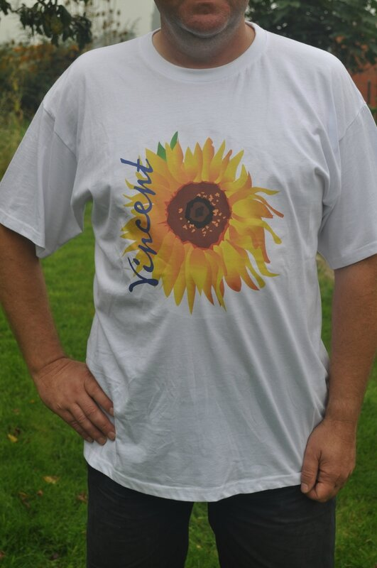 T-shirt sunflower white DSC_0256