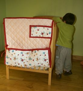 tour de lit - bout de lit spécial rangement - modulable et réversible - Pia Pia Pia création