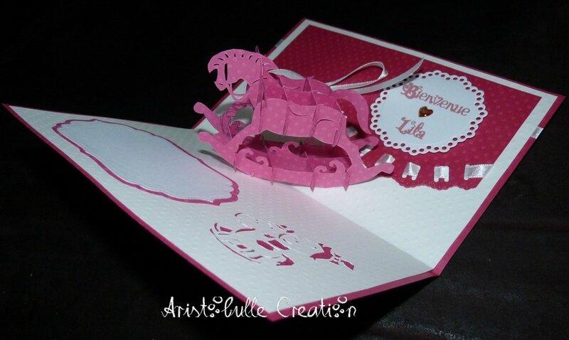 Carte naissance cheval rose - intérieur droit