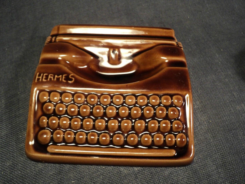 Cendrier Faïence Publicité Hermes Machine à Ecrire