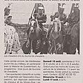 Article ouest france du 06 août 2015