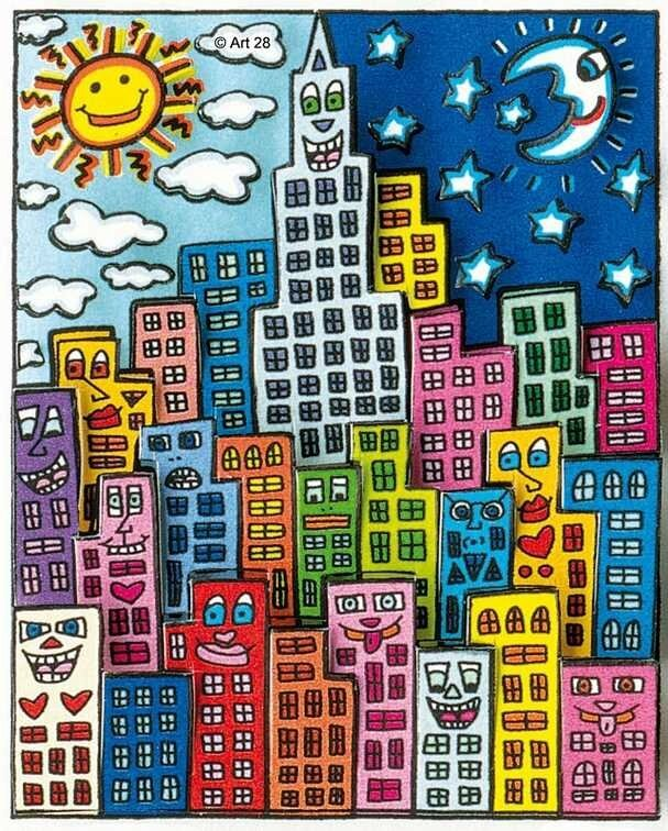james-rizzi-night-and-day-in-my-city-2014