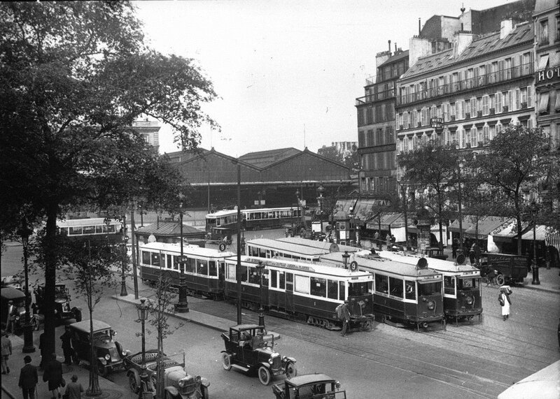 PHOTO-tram-gare-de-l'est-1927
