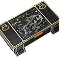 A rare art deco lacquer and gem-set cigarette box, by cartier