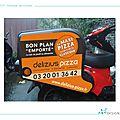 Delizius pizza : habillage des scooters